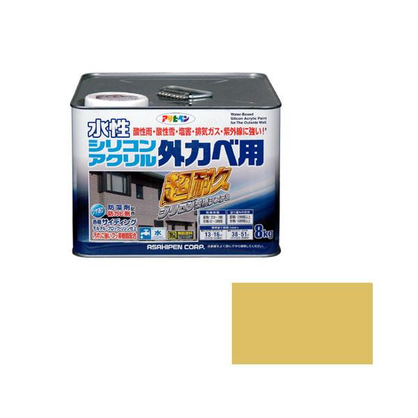 アサヒペン AP 水性シリコンアクリル外かべ用 8KG シトラスイエロー 9010591 (直送品)