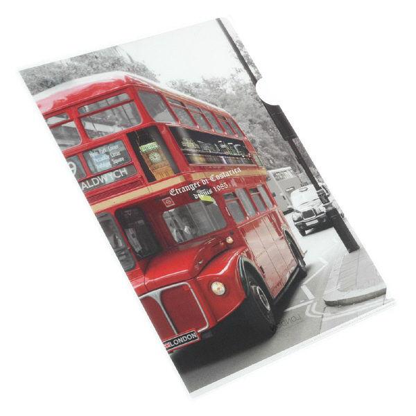 エトランジェ・ディ・コスタリカ A4クリアホルダー[London]バス LNDNー32ー03 20枚 (直送品)