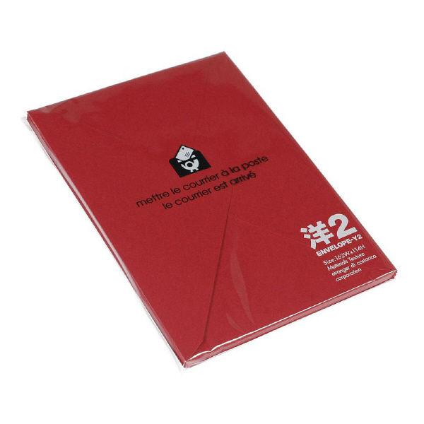 エトランジェ・ディ・コスタリカ 洋2 封筒 [DEEPCOLOR] レッド ENY2-D-02 1セット(80枚:8枚入り×10個) (直送品)