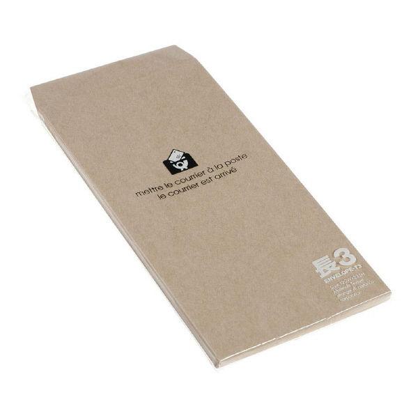 エトランジェ・ディ・コスタリカ 長3 封筒 クラフト ENT3-A-01 1セット(200枚:20枚入り×10個) (直送品)