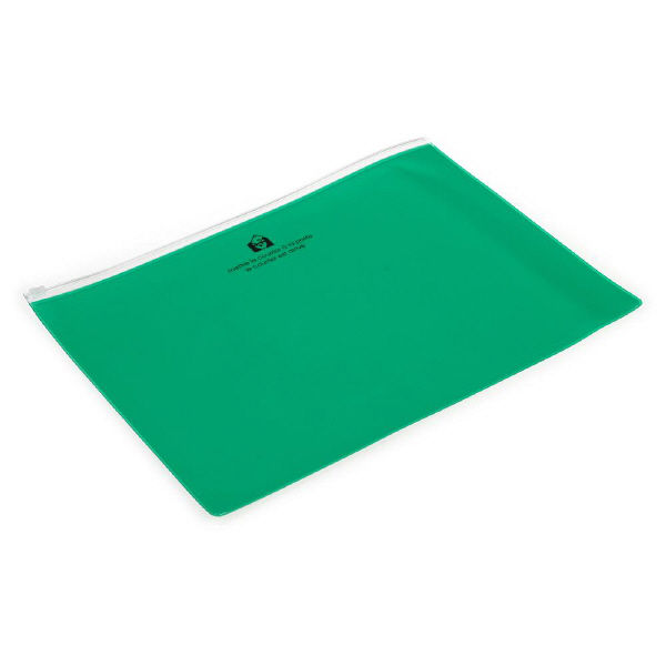 エトランジェ・ディ・コスタリカ ジッパーポケットA4[TRP]グリーン ZIPーA4ー67 5冊 (直送品)