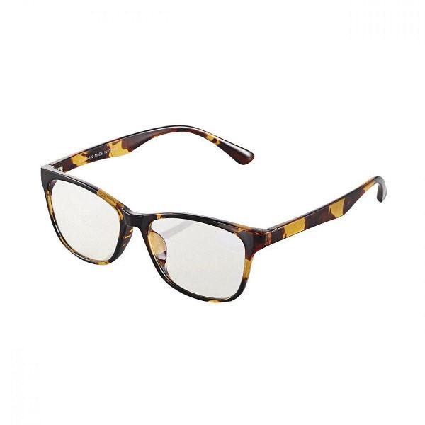エレコム(ELECOM) ブルーライトカット眼鏡 クリアレンズ ウェリントン 鼈甲 G-BUC-W01TT 1個 (直送品)