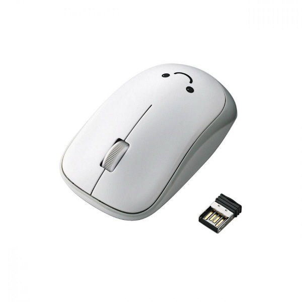 エレコム IRマウス ENELOシリーズ 無線 3ボタン 省電力 ホワイト M-IR07DRWH (直送品)