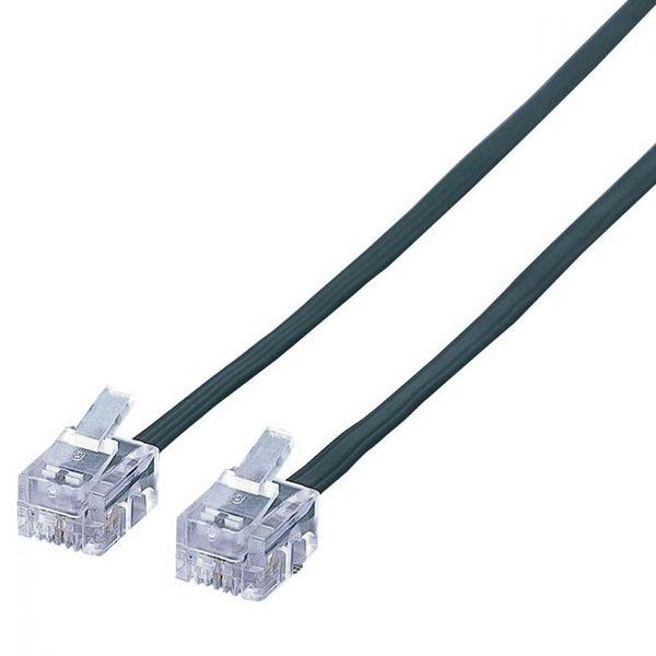 エレコム スリムモジュラケーブル(ブラック)(4芯) MJ-1BK (直送品)