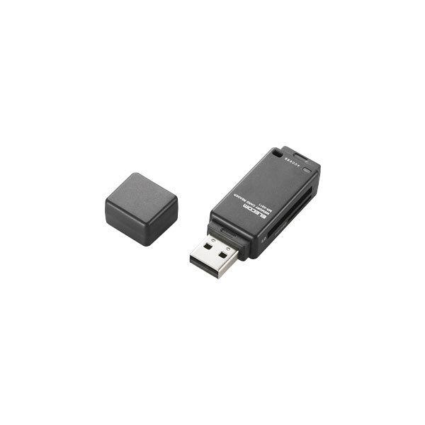 エレコム メモリリーダライタ 直挿しタイプ SD系専用 ブラック MR-K011BK (直送品)