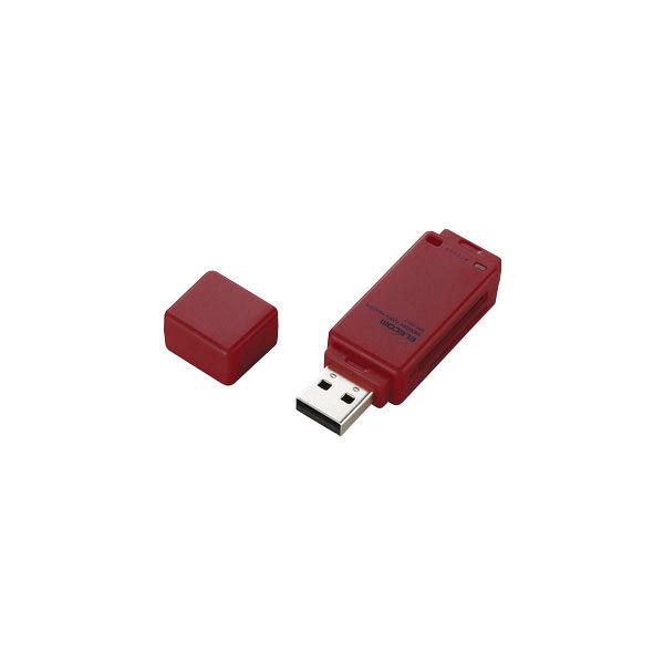 エレコム メモリリーダライタ 直挿しタイプ SD系専用 レッド MR-K011RD (直送品)