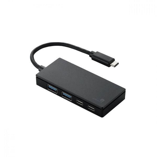 エレコム USBハブ(USB HUB) Type-Cコネクタ搭載 ブラック USB3.1Gen1 1ポートバスパワー10cm U3HC-A412BBK(直送品)