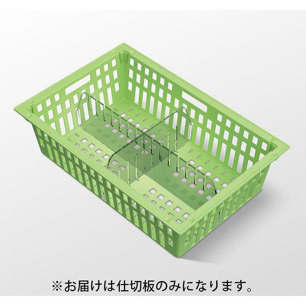 河淳 KMバスケットコンテナ仕切り64-16S MCN012TP 10枚セット (直送品)