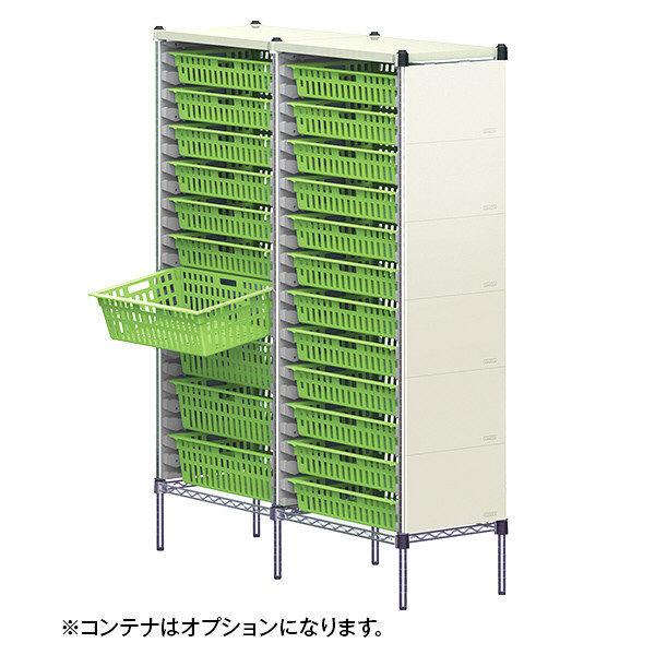 河淳 KSOコンテナキャビネット64用 2列24段 アイボリー MSL021IV (直送品)