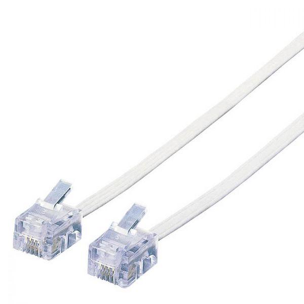 エレコム スリムモジュラケーブル(ホワイト)(4芯) MJ-3WH (直送品)