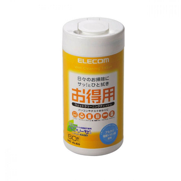 エレコム ウェットクリーニングティッシュ WC-AL60 (直送品)