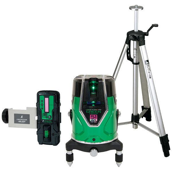 シンワ測定 レーザーロボ グリーンNeoESensor51AR受光器三脚セット 71616 (直送品)