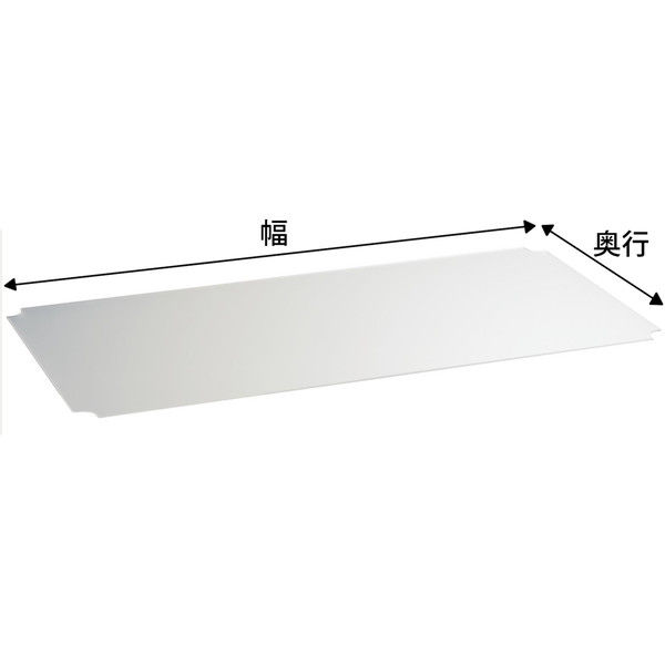 【サイズ&カラー・オーダーシステム】ホームエレクター オーダーアクリル板 フロスト 幅900x奥行575mm 1枚 (直送品)