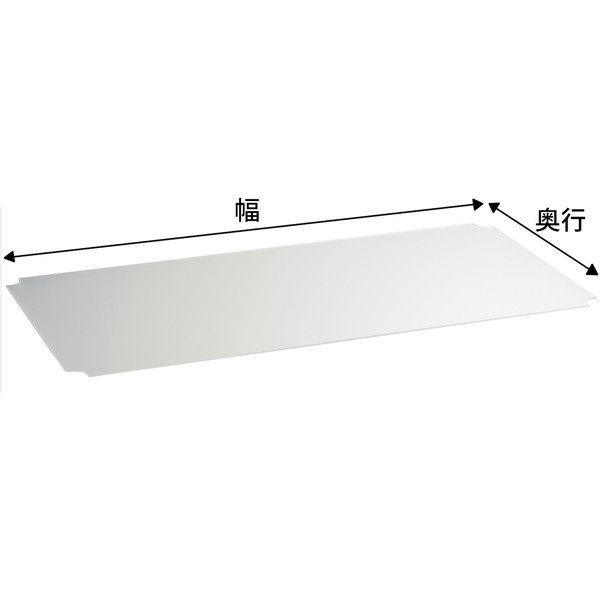【サイズ&カラー・オーダーシステム】ホームエレクター オーダーアクリル板 フロスト 幅1200x奥行425mm 1枚 (直送品)