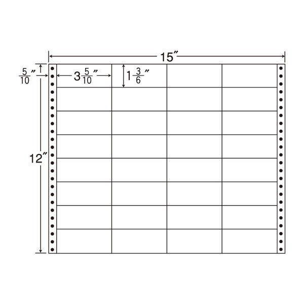 タックフォームラベル(白セパ) NB15iL 1箱(500折) 東洋印刷 (直送品)