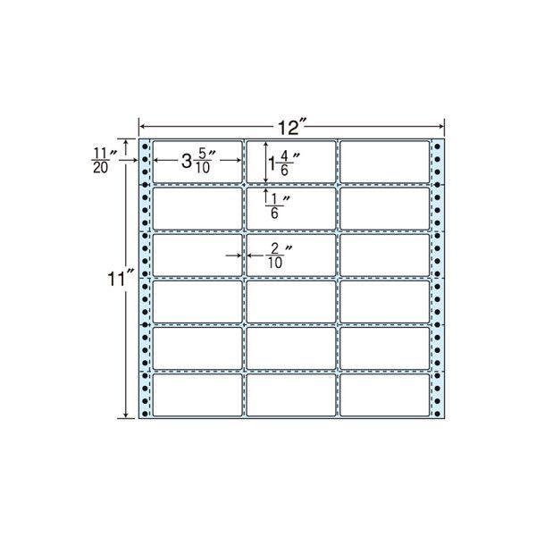 タックフォームラベル(剥離紙ブルー) NH12PB 1箱(500折) 東洋印刷 (直送品)
