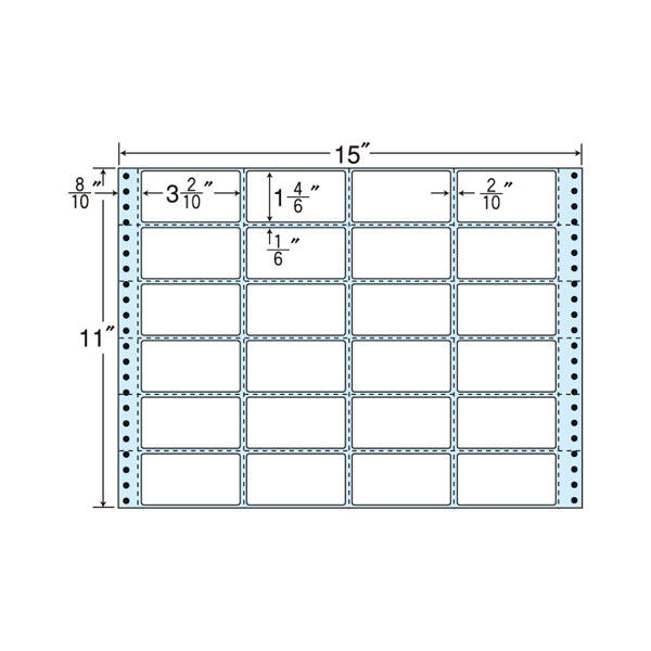 タックフォームラベル(剥離紙ブルー) NH15KB 1箱(500折) 東洋印刷 (直送品)