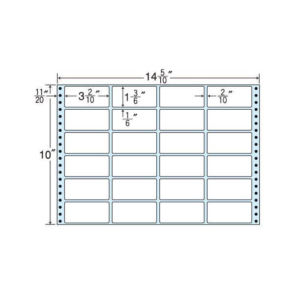 タックフォームラベル(剥離紙ブルー) NT14MB 1箱(500折) 東洋印刷 (直送品)