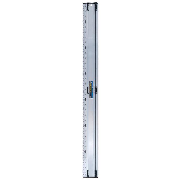 アルミカッター定規 カット師PROTECT 1m 併用目盛 65066 1セット(2個) シンワ測定 (直送品)