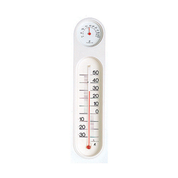 温湿度計 PCオーバル ホワイト&ホワイト 48927 1セット(10個) シンワ測定 (直送品)