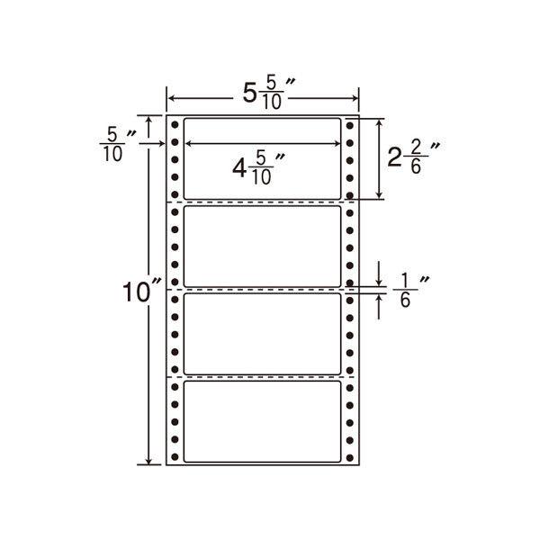 ナナフォーム MX5E 1箱(500折×2) 東洋印刷 (直送品)