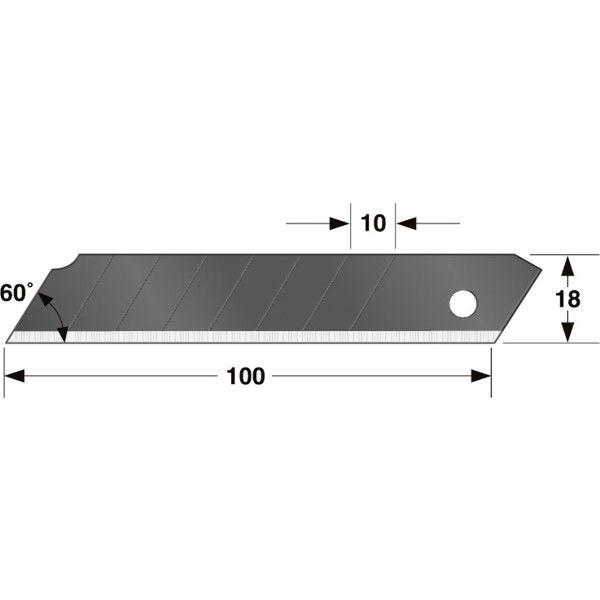 カッター 替刃大 凄刃黒50枚入 CBL-SK50 1セット(10個) TJMデザイン (直送品)