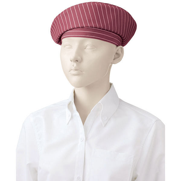 KAZEN(カゼン) ベレー帽 ワインストライプ F APK483-S81 1個 (直送品)
