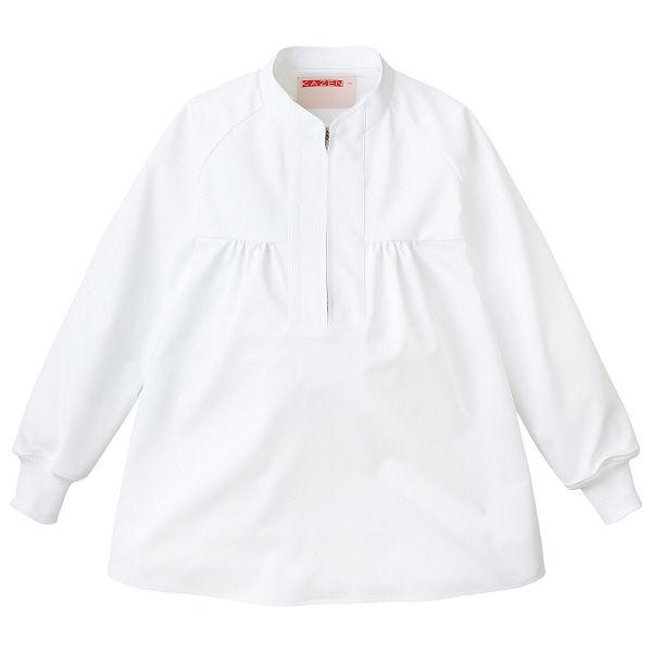 KAZEN(カゼン) マタニティ用ジャンパー ホワイト L 568-40 1着 (直送品)
