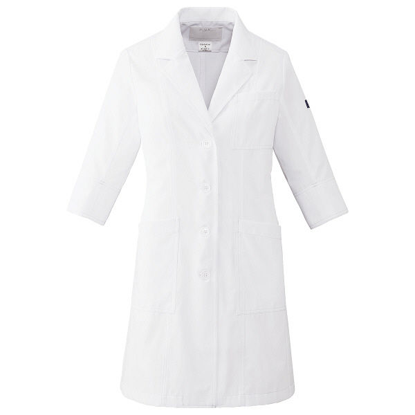 フォーク CHEROKEE(チェロキー) 医療白衣 レディスシングルコート CH450 ホワイト LL 1枚 (直送品)