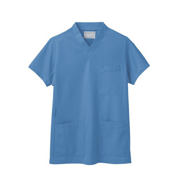 住商モンブラン スクラブ(男女兼用) ジャケット 医務衣 医療白衣 半袖 コバルトブルー 3L 72-633 (直送品)
