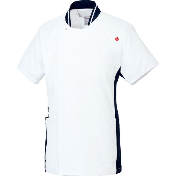 ルコックスポルティフ 医療白衣 メンズジャケット UQM1008 ホワイトネイビー M 1枚 (直送品)
