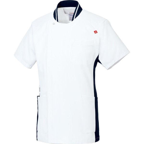 ルコックスポルティフ 医療白衣 メンズジャケット UQM1008 ホワイトネイビー L 1枚 (直送品)