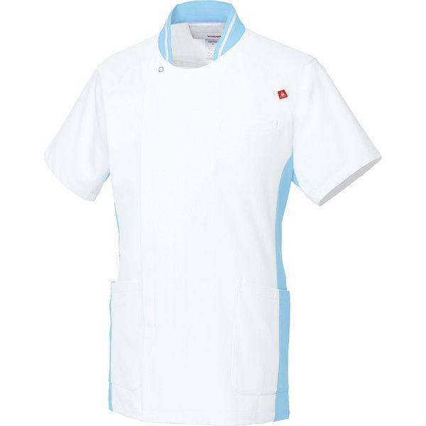ルコックスポルティフ 医療白衣 メンズジャケット UQM1008 ホワイトアクア LL 1枚 (直送品)