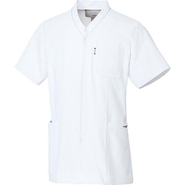 ルコックスポルティフ 医療白衣 ユニセックスVネックスクラブ UQM1525 アクア SS 1枚 (直送品)