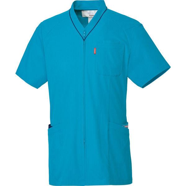 ルコックスポルティフ 医療白衣 ユニセックスVネックスクラブ UQM1526 ターコイズ S 1枚 (直送品)