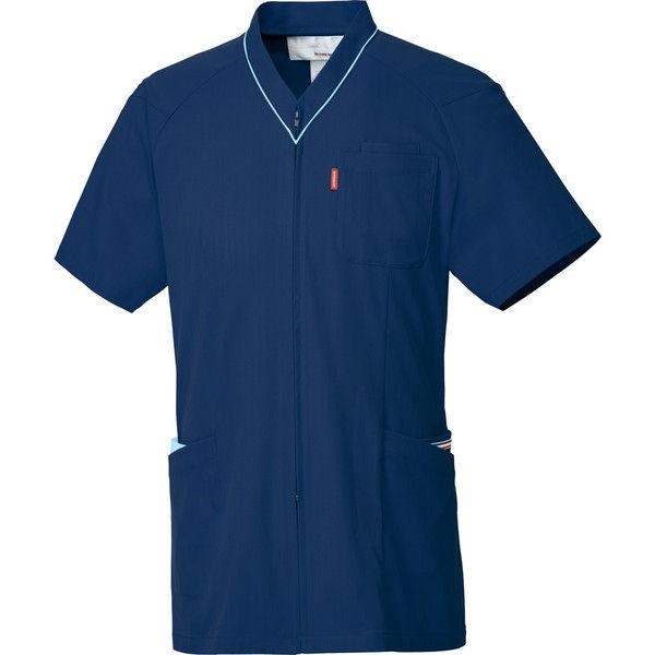 ルコックスポルティフ 医療白衣 ユニセックスVネックスクラブ UQM1526 ネイビー L 1枚 (直送品)