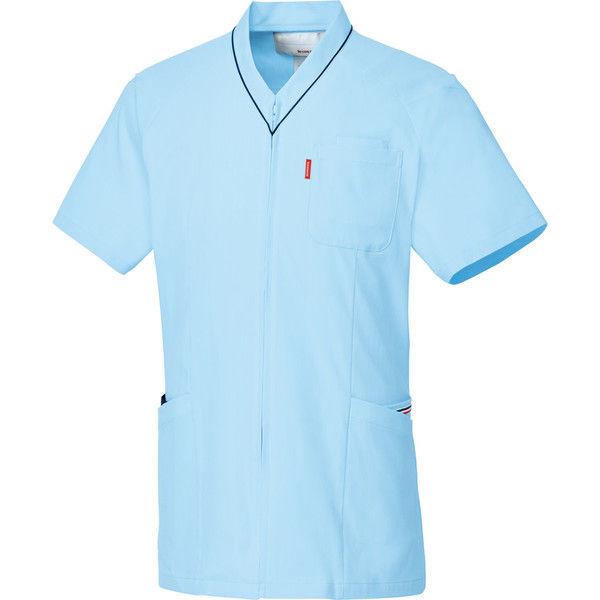 ルコックスポルティフ 医療白衣 ユニセックスVネックスクラブ UQM1526 アクア L 1枚 (直送品)