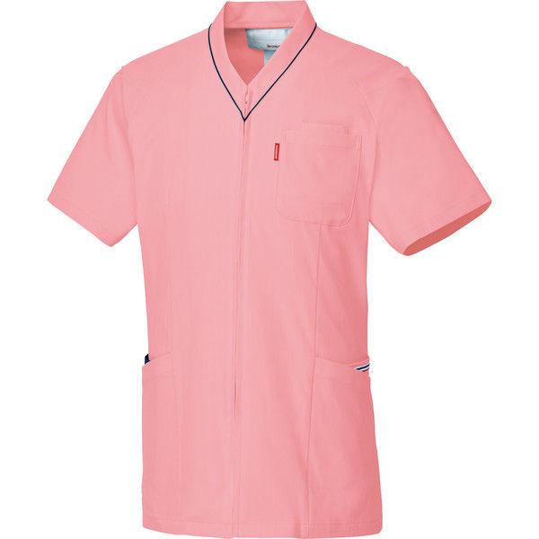 ルコックスポルティフ 医療白衣 ユニセックスVネックスクラブ UQM1526 ピンク SS 1枚 (直送品)