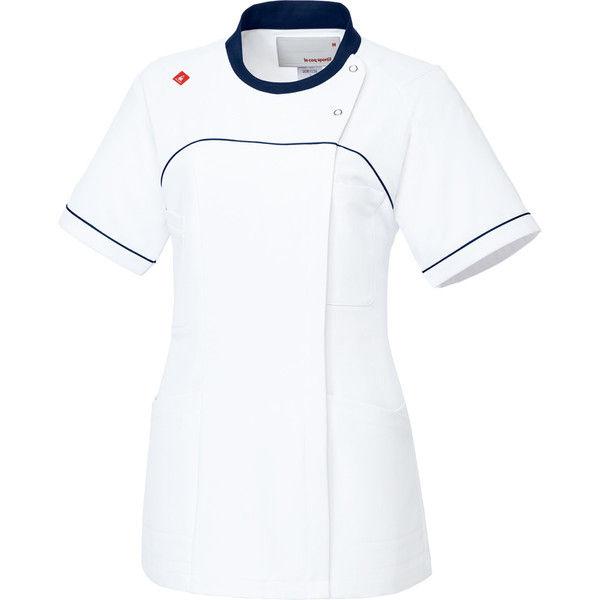 ルコックスポルティフ 医療白衣 レディスジャケット UQW1039 ホワイトネイビー L 1枚 (直送品)