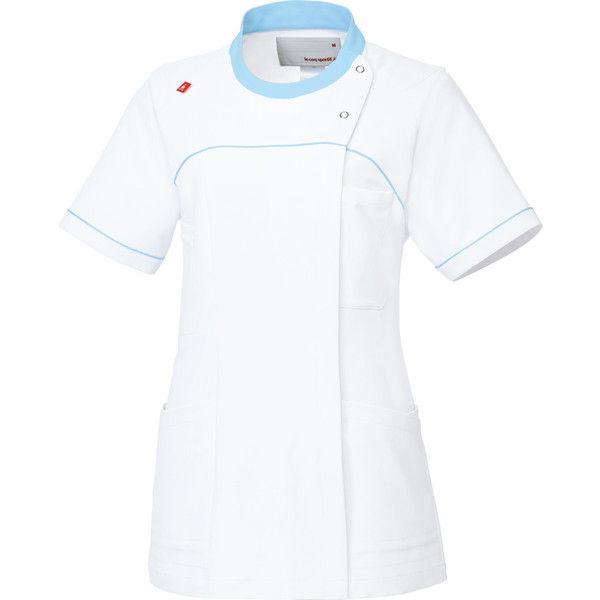 ルコックスポルティフ 医療白衣 レディスジャケット UQW1039 ホワイトアクア EL 1枚 (直送品)