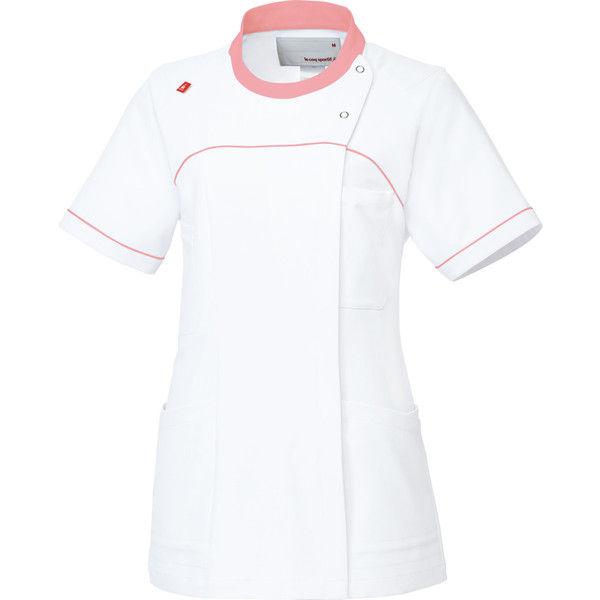 ルコックスポルティフ 医療白衣 レディスジャケット UQW1039 ホワイトピンク EL 1枚 (直送品)
