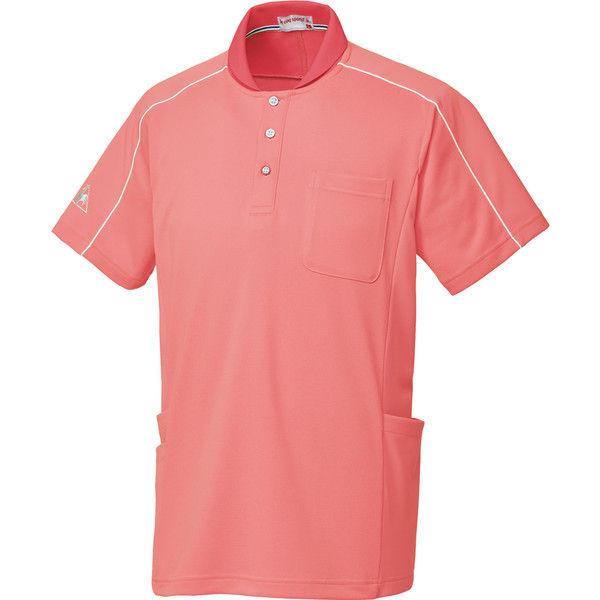 ルコックスポルティフ 介護ユニフォーム ショールカラーシャツ UZL3051 ピンク M 1枚 (直送品)