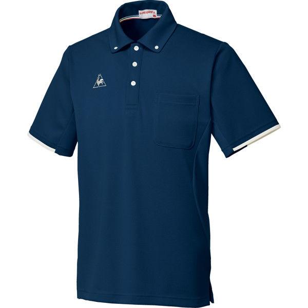 ルコックスポルティフ 介護ユニフォーム ボタウンダウンシャツ UZL3052 ネイビー LL 1枚 (直送品)