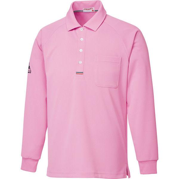 ルコックスポルティフ 介護ユニフォーム 長袖ニットシャツ UZL3053 ピンク LL 1枚 (直送品)