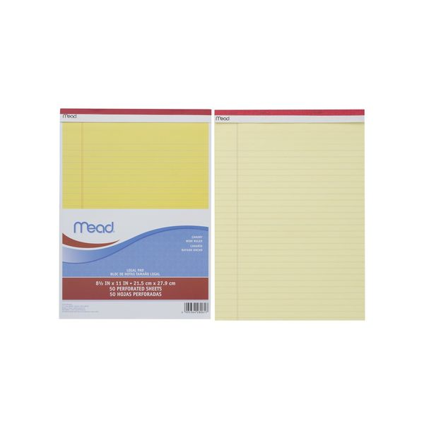 Mead リーガルパッド MLP59604 アコ・ブランズ・ジャパン  5冊 (直送品)