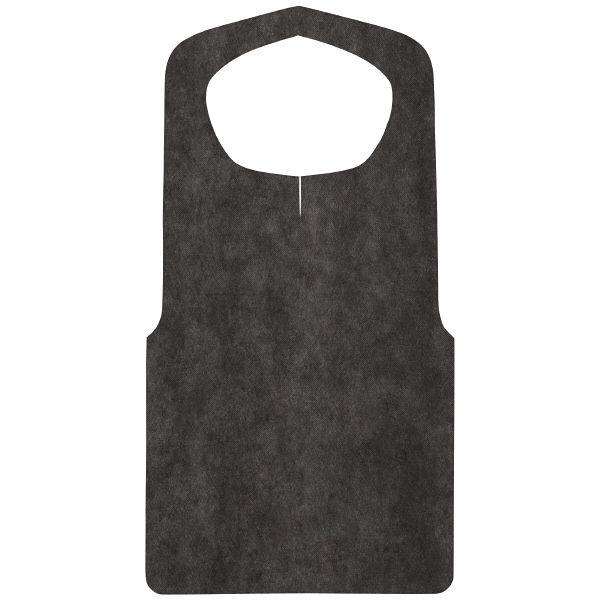 不織布エプロン 黒 1袋(30枚入)