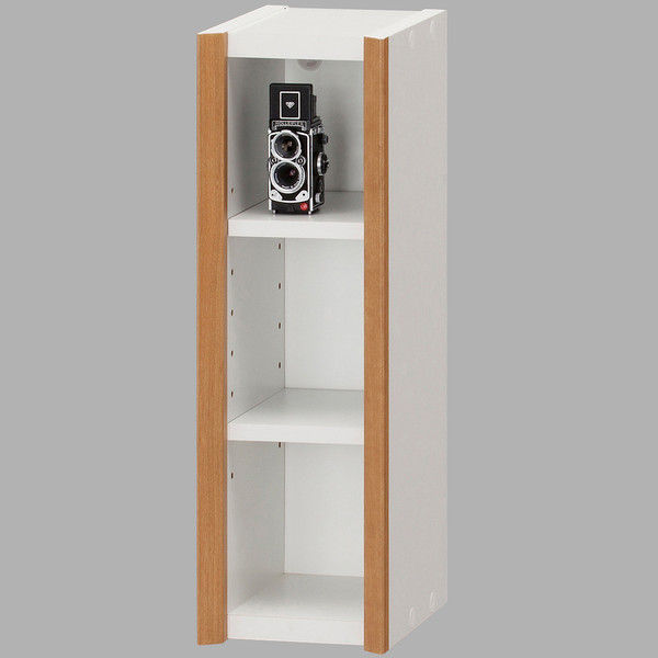 dbf118fb4b アスクル】白井産業 シンプル箱型壁掛けラック 可動棚2段 幅140mm ...