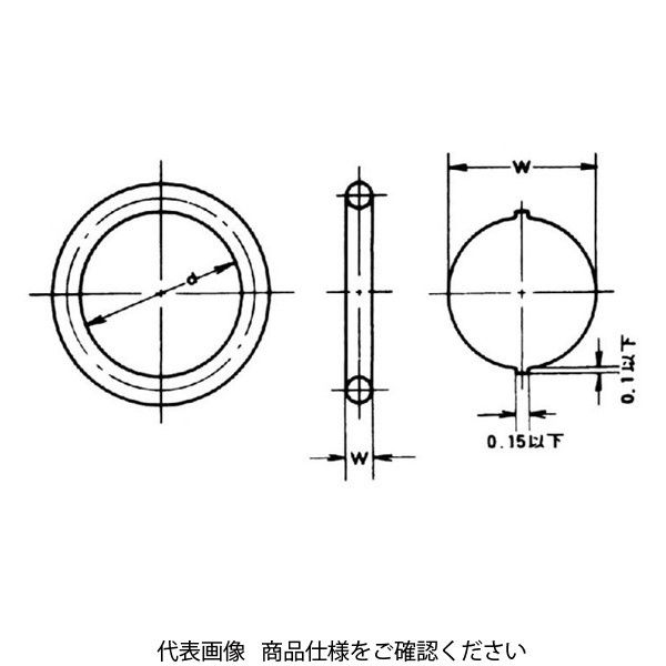 アスクル】日近 運動用Oリング P24-FKM 1セット(20個)(直送品 ...
