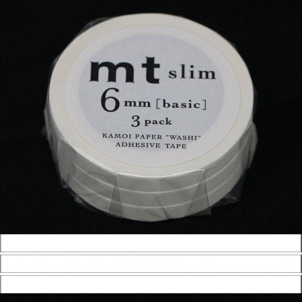 マスキングテープmt マット白 幅6mm