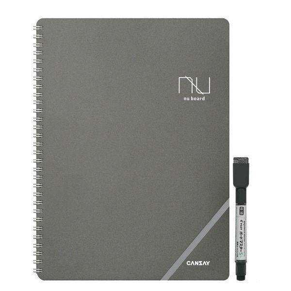 ノート型ホワイトボード nu board A4 NGA403FN08 欧文印刷